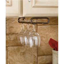 wine glass stemware racks for shelf or under cabinet mounting by