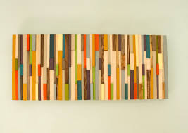wood pieces for walls mid century wall reclaimed wood sculpture sale painted