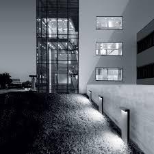 garden bollard light contemporary aluminum led look simes