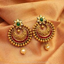 earrings image gold antique kundan earrings gold ear rings and