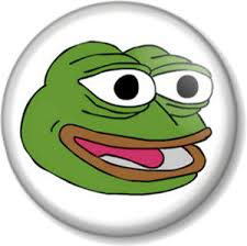 Meme Emoticon Face - pepe the frog happy face 25mm 1 pin button badge internet meme
