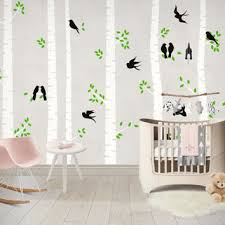 Wall Decals For Baby Nursery Shop Birch Tree Wall Decal Nursery On Wanelo