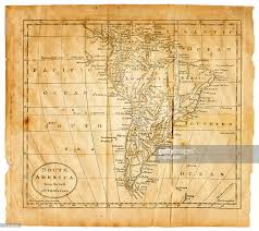 Old Map Old Map Of South America Stock Photo Getty Images