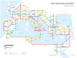 Blue Line Chicago Map by The Roman Empire U0027s 250 000 Miles Of Roadways Imagined As A Subway