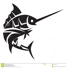 marlin fish tattoo stock vector image of isolated swordfish