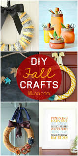 a roundup of diy fall crafts cute and easy see it on lilluna