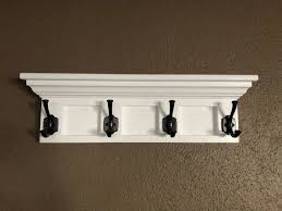 wooden wall mounted coat rack with shelf crown molding