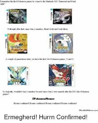 Pokemon Game Memes - remember the first pokemon games to come to the nintendo ds diamond