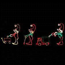 Large Animated Christmas Decorations by Animated Christmas Light Princess Prince Carriage Horse Set