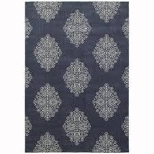 area rugs home decorators home decorators collection manston navy 6 ft 7 in x 9 ft 6 in