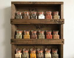 Spice Rack Organizer Wood Kitchen Rack Etsy