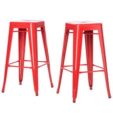 tabouret 24 inch red metal counter stools set of 2 free