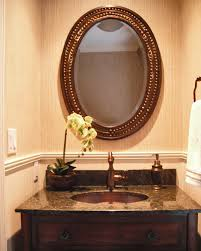 Vanity Framed Mirrors Appealing Unique Powder Room Vanities With Oval Framed Mirror Over