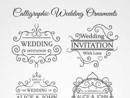 calligraphic wedding ornaments free vectors ui