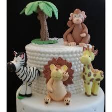 lion cake topper jungle party jungle animal set jungle baby shower elephant
