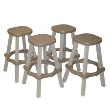 Bar Stool Sets Of 2 Leisure Accents 26 In Taupe Resin Patio High Bar Stools Set Of 2