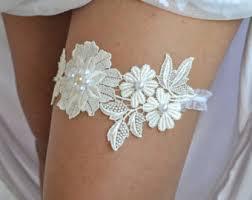 Garters For Wedding Ivory Lace Garter Etsy