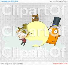 halloween monsters background royalty free rf clipart illustration of a halloween witch owl