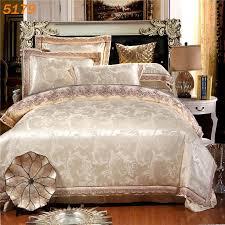 White Silk Bedding Sets Wholesale European Style Bedclothes Silk Cotton A B Sides