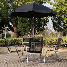 Patio Table Parasol Wondrous Outdoor Exterior Design With Metal Blue Cushioned Chairs