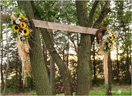 Wedding In The Backyard Fall Wedding With Superhero Touch Rustic Backyard Nebraska Farm