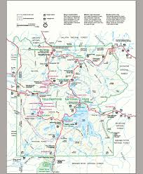 National Park Map Usa by Map Of Yellowstone Park U2013 World Map Weltkarte Peta Dunia Mapa