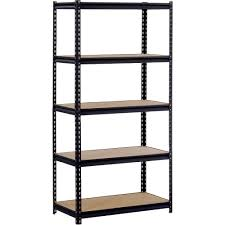 furniture exciting material of edsal shelving for garage storage black metal frame edsal shelving with five rack for garage storage design