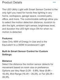 winplus led utility light with motion sensor new in the box winplus led utility light with motion sensor tools