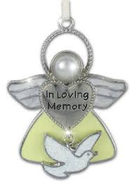 in loving memory charms in loving memory hanging ornament angel with dove charm loving