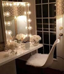 Makeup Vanity With Lighted Mirror Crisp Classy Vanity Decor Pinterest Vanities Classy And