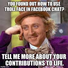 Facebook Chat Meme Faces - creepy condescending wonka meme imgflip
