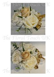 White Wrist Corsage The Floral Touch Uk Com Wrist Corsages Prom Corsage Wrist