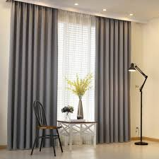 Kitchen Door Curtain by Aliexpress Com Buy Modern Curtain Plain Solid Color Blackout