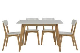table et 4 chaises table 4 chaises smogue bois blanc mykaz