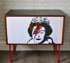 Retro Bar Cabinet Upcycled Vintage Retro Mid Century Drinks Cabinet In A Teal Lemur