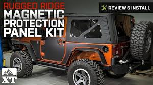 jeep wrangler 2017 matte black wrangler rugged ridge magnetic protection panel kit matte black