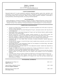 basic sle resume format 96 federal government resume sle coolest logistics manager pdf