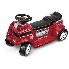 radio flyer battery operated fire truck for 2 with lights and