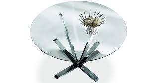 table de cuisine ronde en verre pied central beau table ronde plateau verre pied central collection et blanc
