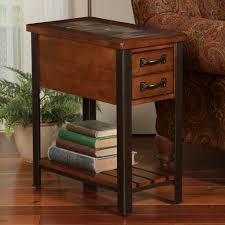 wood end tables with drawers living room slate top end table drawers kukuis