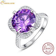 real crystal rings images Buy bonlavie real pure 925 sterling silver rings jpg