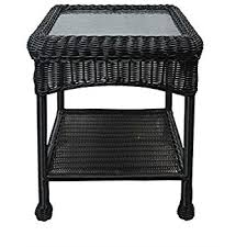 amazon com wicker lane oti001 d outdoor black wicker patio