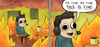 Everything Is Fine Meme - art fanart yogscast xephos lewis brindley yogstream ode to this is