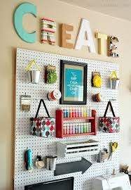 Craft Room Makeovers - 10 ways to use pegboard in your craft room u2013 scrap booking
