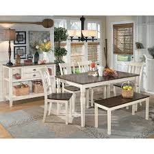 dining room sets with bench popular of dining set with bench whitesburg dining room set w