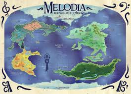 Map Of The New World by New World Map Of Melodia Nichangell Comix
