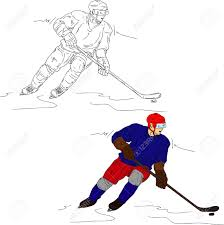 hockey player isolated on background royalty free cliparts