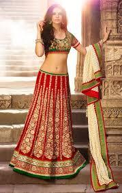 Different Ways Of Draping Dupatta On Lehenga Buy Red And Green Bridal Lehenga Choli Blouse Pattern Of Dupatta