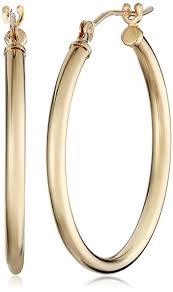 hoop earing 10k yellow gold hoop earrings jewelry