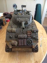nerf remote control tank heng long sherman tank weathered with stowage remote control